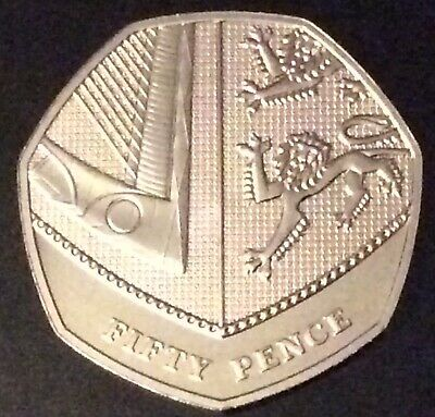2018 Royal Mint Royal Shield of Arms BU 50p Fifty Pence Coin Uncirculated