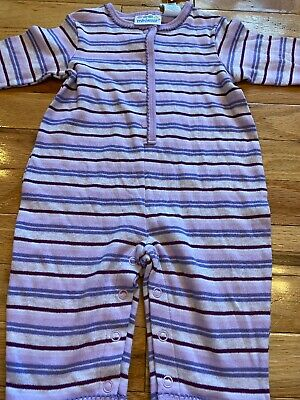 Baby Girl Infant Newborn Miniwear 3-6 Month Purple Striped Romper Outfit New