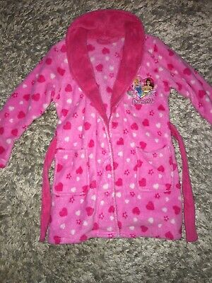 Pink Disney Princess Dressing Gown Age 6 Years