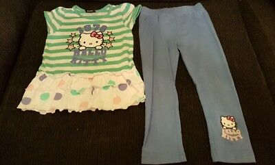 Girls hello kitty outfit/set 3 years great condition