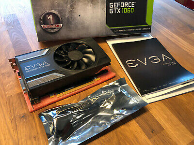 EVGA GeForce GTX 1060 6GB GDDR5 SC GAMING ACX 2.0 (Single Fan) PCIe Grafikkarte