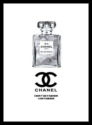Coco Chanel Perfume Fashion Art Print Picture Wall Home Decor Gift A4
