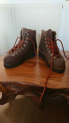 Vintage Dolomite leather hiking mountaineering boots UK 8.5 made in Italy