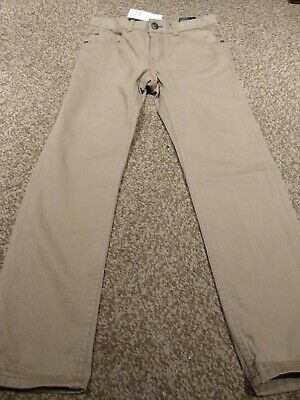 NEW TAGGED Boys Chino Style Beige Trousers 6-7 Years