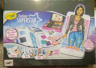 Crayola Fashion Superstar Coloring Book And App Toy For Girls Gift Ages 8 9 23 76 Picclick