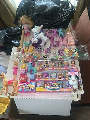 Huge Girl Toy Lot Barbie LPS My Little Pony Disney Shopkins Collectors Edition++