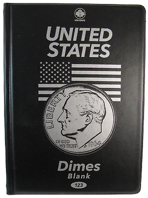 #123 Uni-Safe Coin Folders - United States Dimes - Blank - Free Shipping