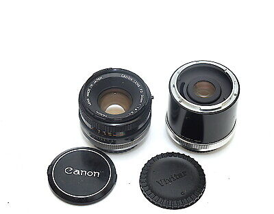 Canon FD 50mm f1.8 S.C Lens with 3x Teleconverter