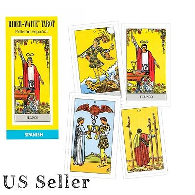 Rider Waite Tarot NEW Sealed 78 Cards Instructions Spanish Title Authorized Deck