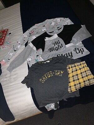 Girls New Look Pyjamas Bundle Age 10-11-12 Size Small