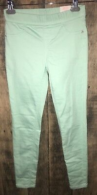 NEW Justice Mint Green Legging Jeans Mid Rise 14 Slim 14S NWT Soft & Stretchy