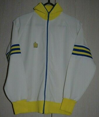 LEEDS UNITED STYLE 1970 - 80`s FOOTBALL JACKET SHIRT JERSEY ADMIRAL SIZE S