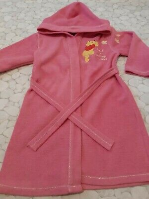 Girls Disney pink Pooh Bear Dressing Gown age 5-6 years