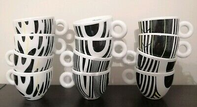 CAFFE' ILLY ESPRESSO TOBIAS REHBERGER 12 Tazze Tazzine Cup Cappuccino Collection