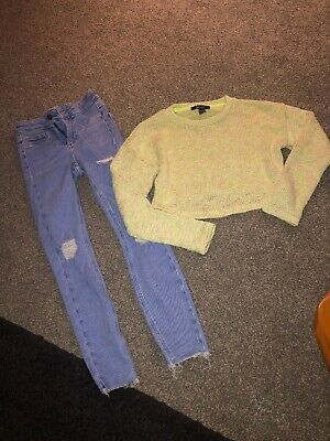 Girls Jumper and Jeans Outfit from New Look, Age 10-11, Excellent Condition