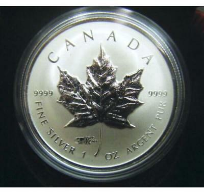 2014 Canada $5 World Money Fair Berlin WMF Privy Silver Maple Leaf Coin 1oz fine