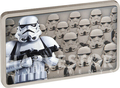 2020 Star Wars - Guards Of The Empire - Stormtrooper - 1 Oz. Silver Coin - Ogp