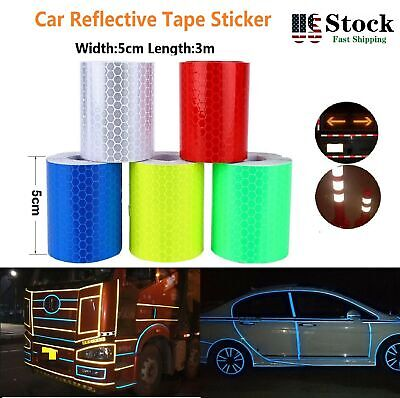 5//20PC Car Truck Reflective Safety Tape Warning Night Light Reflector StiODUNT2P