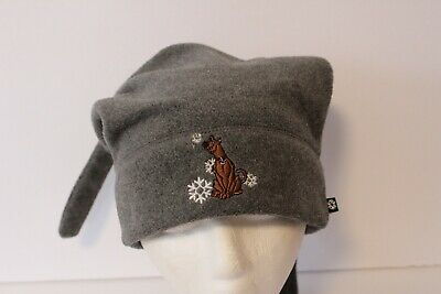 Scooby Doo Embroidered  Logo Gray Winter Hat Cap