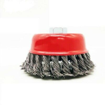 75mm Twist-Knot Cup Wire Brush Bit Wheel With Threaded Arbor For Grinder Removal