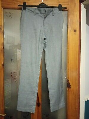 Next Boys Age 11 Years Formal Shinny Grey Trousers