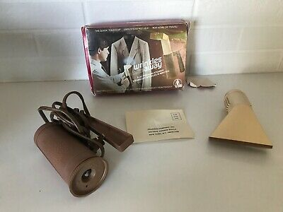 Wrinkles Away Vintage Steamer for Home or Travel in Original Box w Warranty/Dire