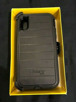 New Authentic OtterBox Defender PRO Series For iPhone XR Case with Clip- Black