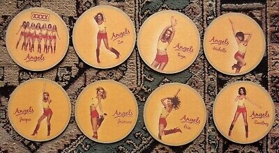 CASTLEMAINE XXXX GOLD ANGLES BEER COASTERS  SET of 8