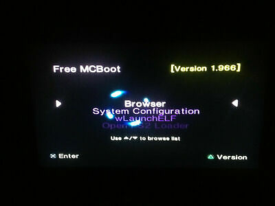 Free Mcboot Genuine Sony 8 mb memory card ps2 1.966  for PlayStation 2 opl fmcb