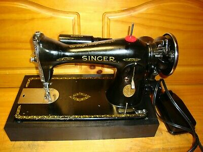 1933  Singer Sewing Machine Model  15-91, Heavy Duty, Gear Driven , Serviced