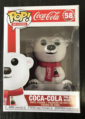 Ad Icons Coca Cola Polar Bear Funko Pop! Vinyl US Exclusive w Pop Protector