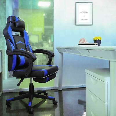 Executive Home Office PC Chair Gaming Race Computer Desk Reclining w/ Footrest