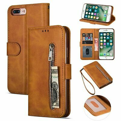 For Xiaomi Redmi Note 7 8 Pro Leather Zip Coin Purse Flip Case Card Slots Cover
