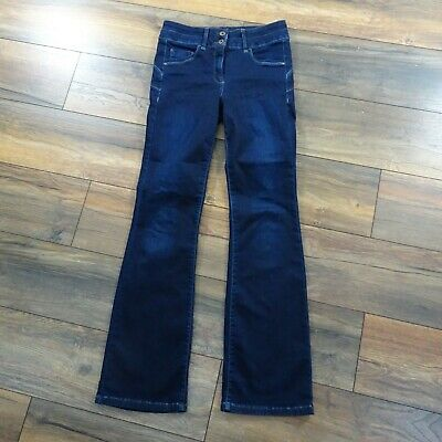 Womens Next Size 10L Lift Slim & Shape Bootcut Dark Blue Jeans Ladies Long Tall