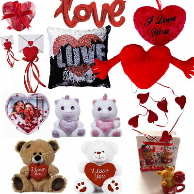 VALENTINES DAY ROMANTIC GIFTS Him & Her Love Heart Cute Bears Valentine Gift UK