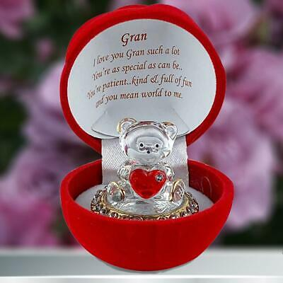 Gran Teddy Bear Red Rose with Poem Birthday Anniversary Mother's day Present