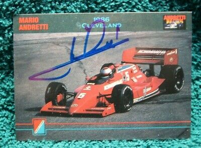 Andretti INDY 500 Trading Card AUTOGRAPHED Hand Signed INDY Great MARIO ANDRETTI