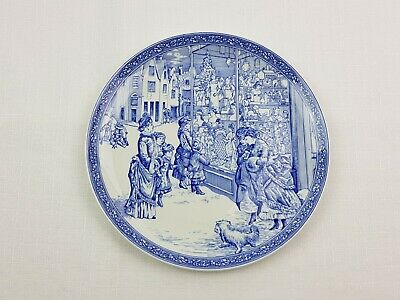 """1 x Spode Blue Room Collection Cabinet Plate """"Christmas Plate Number 4"""""""