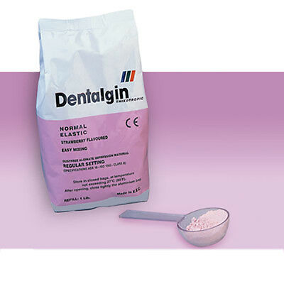 ALGINATO DENTALGIN 453 gr. FRAGUADO NORMAL. SABOR FRESA. DENTAL ALGINATE.