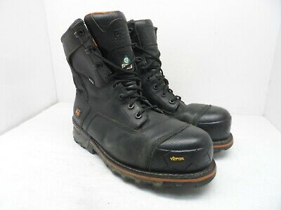 "Timberland PRO Men's 8"" Boondock WP Comp Toe Work Boots Black 89645 Size 12W"