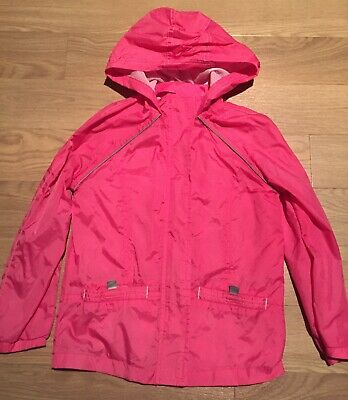 Girls Age 7-8 Years Debenhams Pink Mac In A Bag jacket Hooded Raincoat