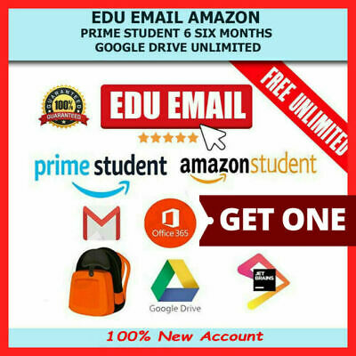 Edu Email 6Months Amazon Prime Unlimited Google Drive Storage US Student Mail