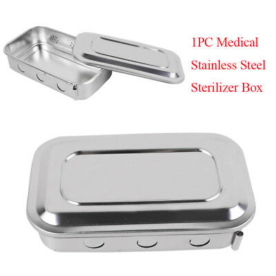 Sterile Medical Sterilizer Box Square Dish With Lid Dental Instruments Good USE