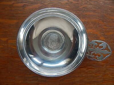 1834 Antique French Coin France Wine Tasting Trastvin Cup Sterling Silver