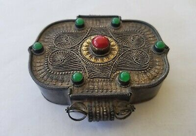 RARE Antique Chinese Silver Sterling Filigree Trinket BOX  (120 gr)