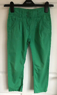 Girls Green Next Cotton Trousers/Chinos - Age 7yrs