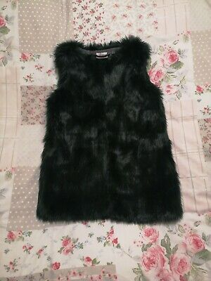 Girls Next Faux Fur Gillet Bodywarmer Age 9 Years