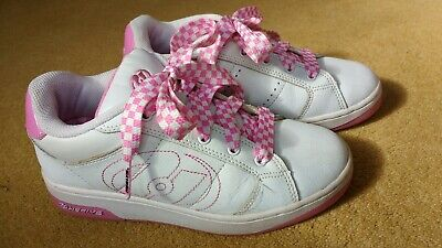 Girls Heelys Size UK 3 White, Pink Laces, Lovely Condition