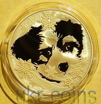 2016 Laos Lunar 猴 Year of the Monkey 1 Oz Silver Gilded Proof Coin Hockey Zodiac