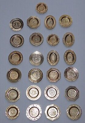 Solid Silver Antique Miniature English Plate Collection Franklin Mint 1981